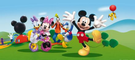 Mickey Mouse & Friends Panoramic mural wallpaper 202x90cm